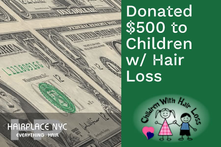 HairPlaceNYC Donates To Children with Hair Loss.